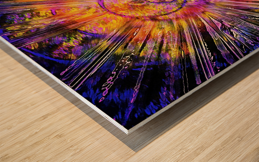 Light Body Activation Wood print