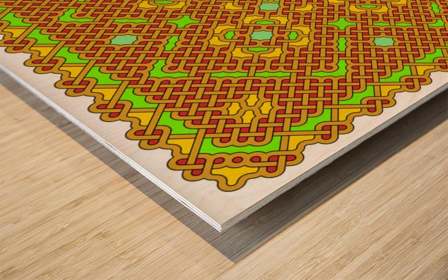 Celtic Maze 5011 Wood print