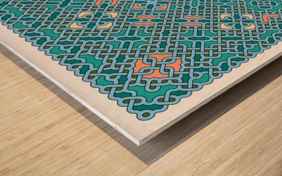 Celtic Maze 5014 Wood print