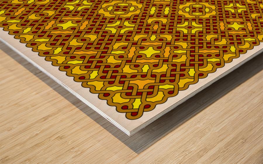 Celtic Maze 5023 Wood print