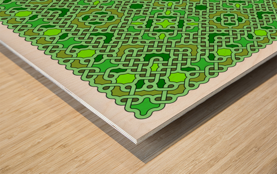 Celtic Maze 5021 Wood print