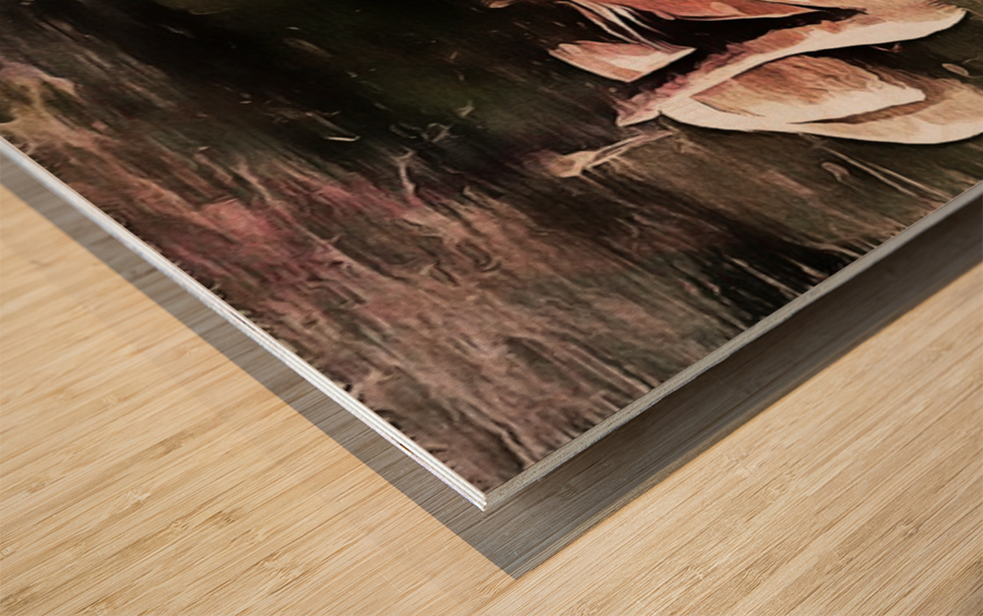Swan Family Wood print