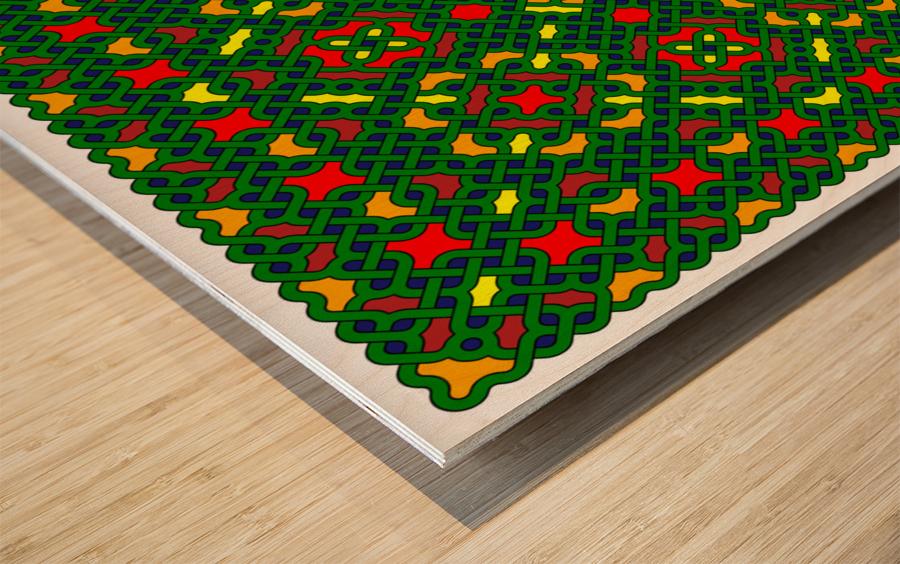 Celtic Maze 5027 Wood print