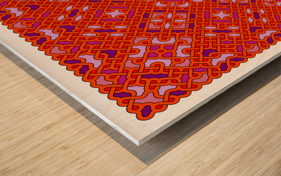 Celtic Maze 5026 Wood print