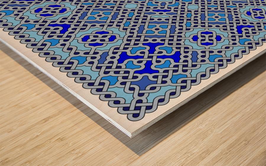 Celtic Maze 5025 Wood print