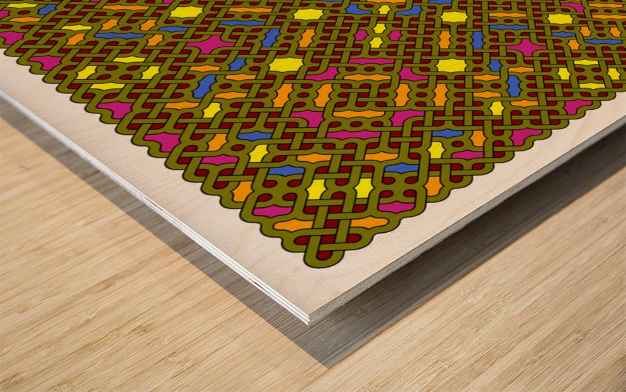 Celtic Maze 5030 Wood print