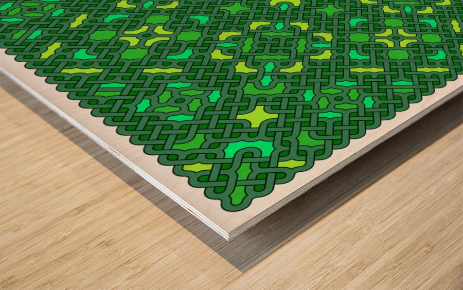 Celtic Maze 5032 Wood print