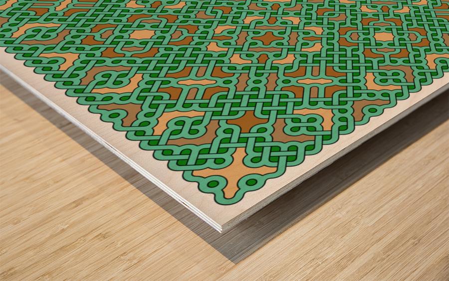Celtic Maze 5031 Wood print