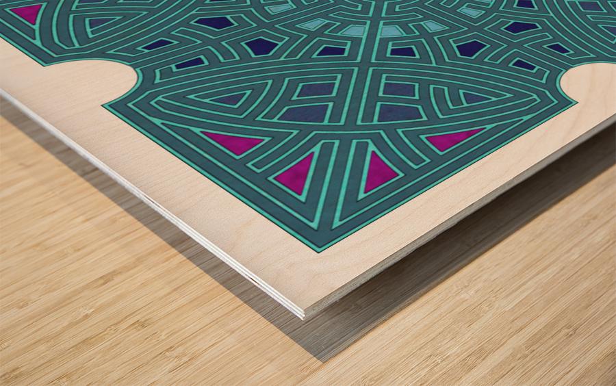Labyrinth 1806 Wood print