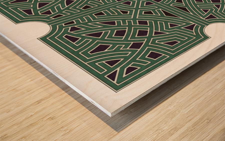 Labyrinth 1808 Wood print