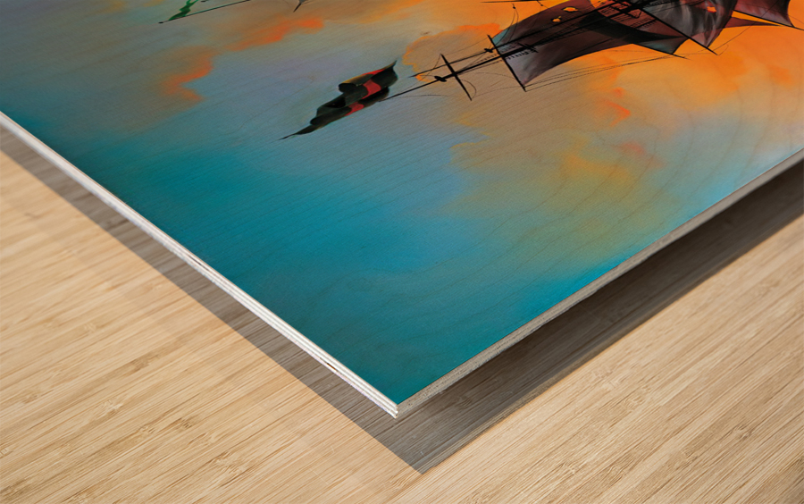 Marauders of the Sea Wood print