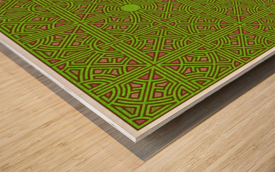 Labyrinth 3607 Wood print