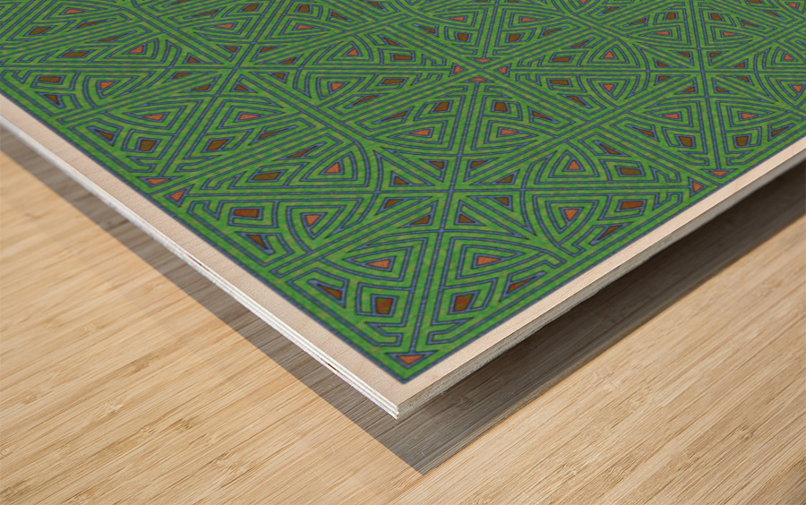 Labyrinth 3605 Wood print
