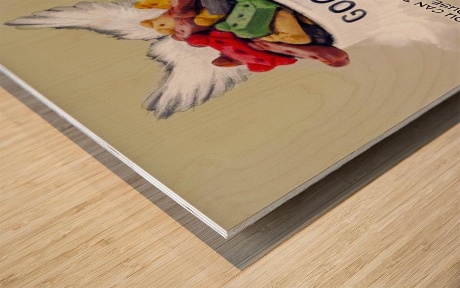 Beagle Quote Wood print