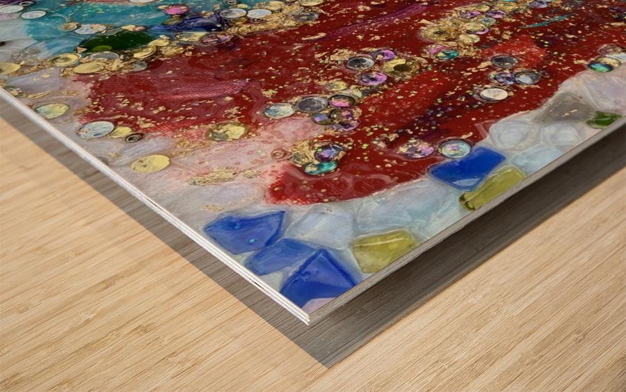 Rained Confetti  Wood print