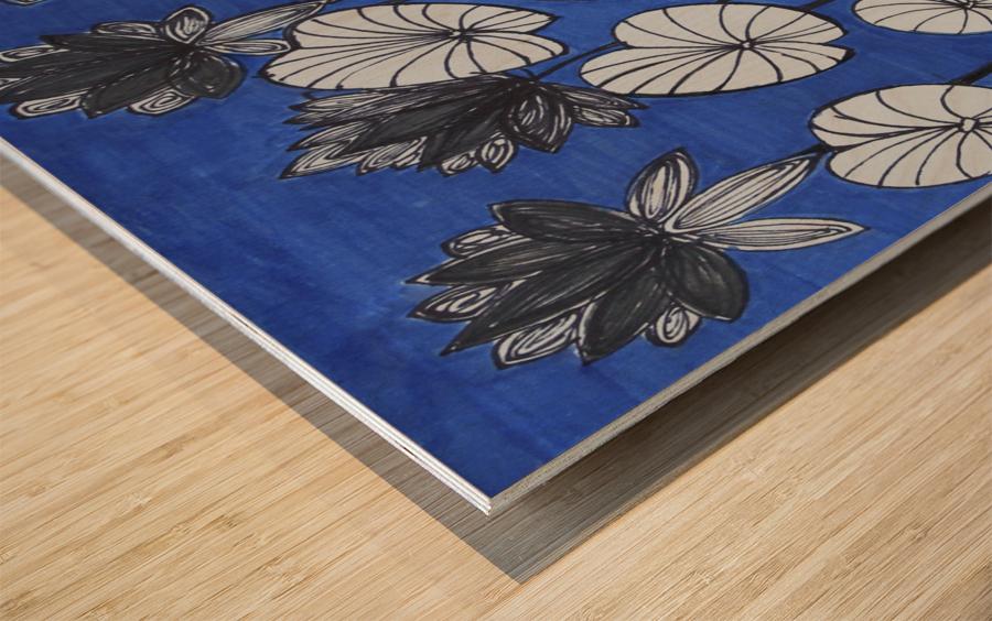 Black Lotus Wood print