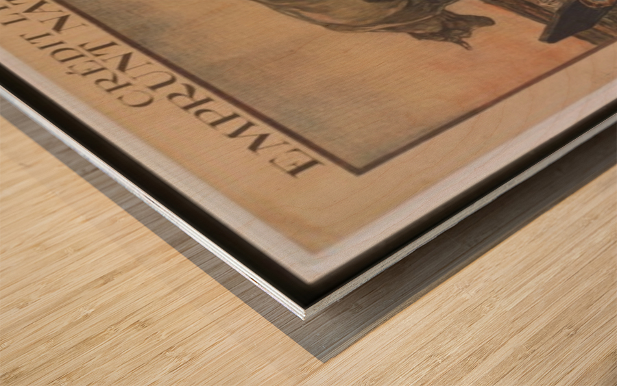 Vintage---Credit-Lyonnais Wood print