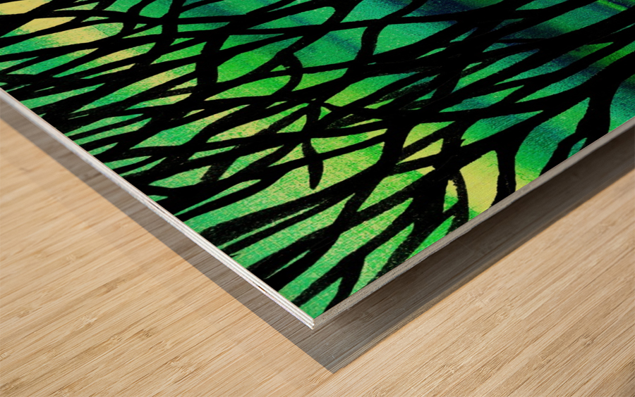 Abstract Spring Forest Wood print