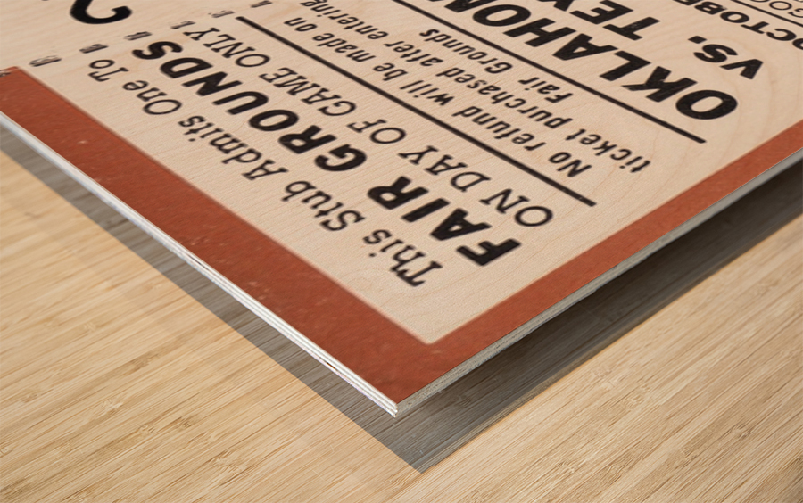 1983 Oklahoma Sooners vs. Texas Longhorns Wood print