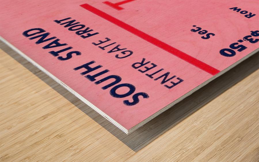 1968 Louisville Cardinals  vs. Dayton Flyers  Wood print