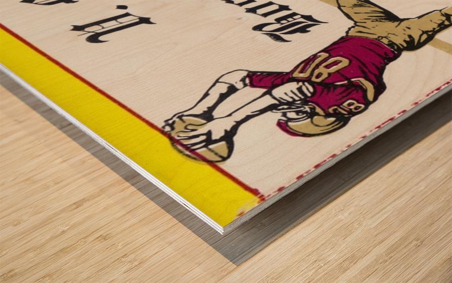 1966 VMI vs. Boston College Eagles Football Ticket Stub Art Wood print