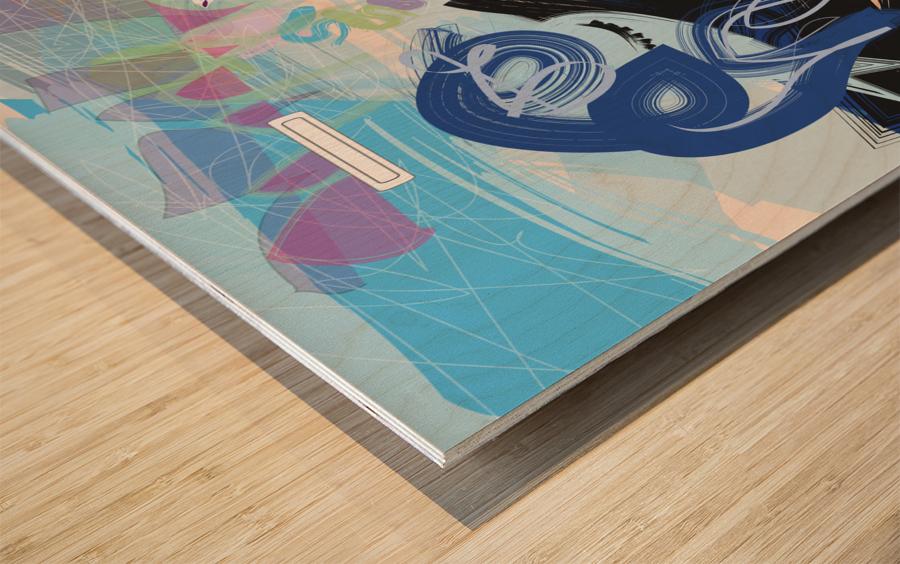 Vibe Travelers Wood print