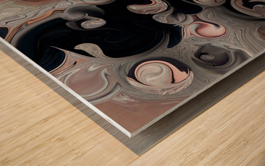 The Architectonic Projection Wood print