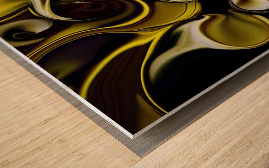 Transparent Dimension Wood print