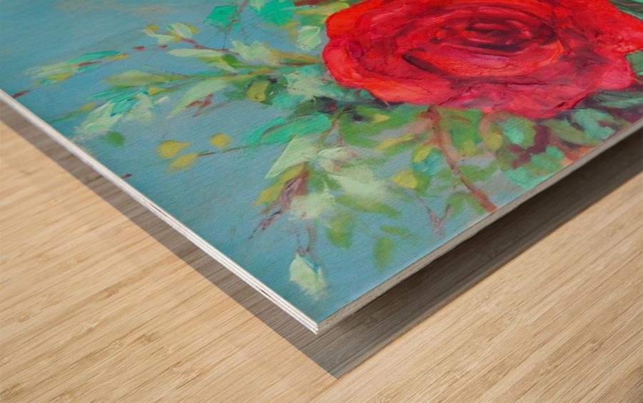 Roses challenge.  Wood print