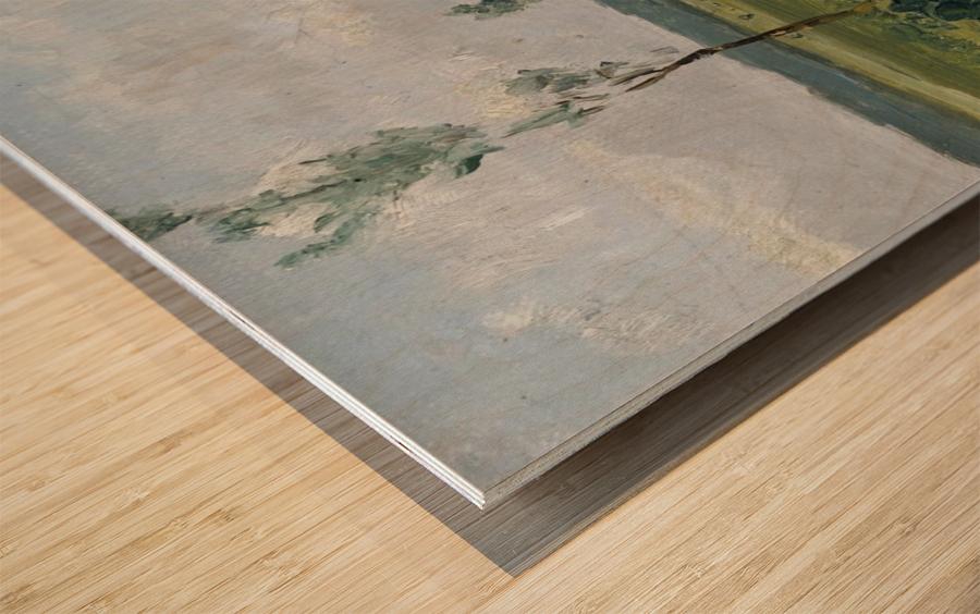 Behind the Dunes Wood print