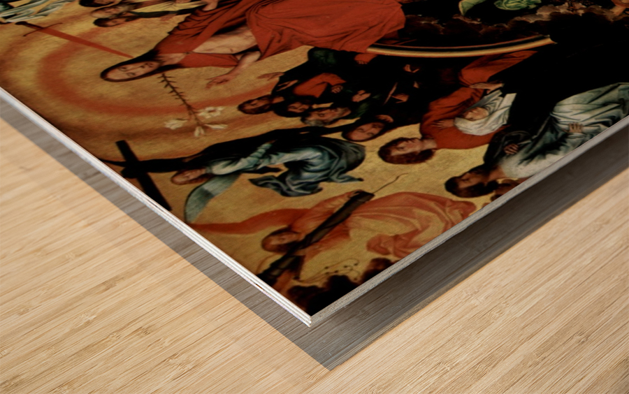 The Last Judgment, triptych, central panel Wood print