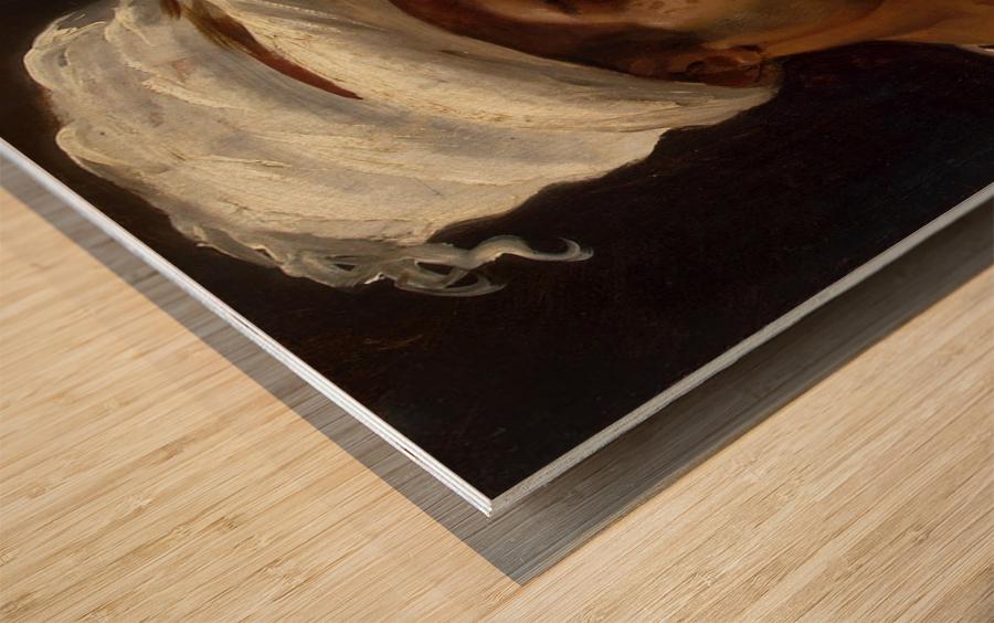 Head of an Arab Wood print