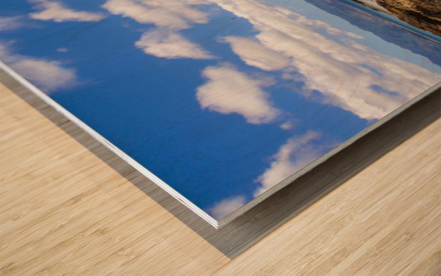 Brilliant Blue Skies Over Hanauma Bay Hawaii Wood print