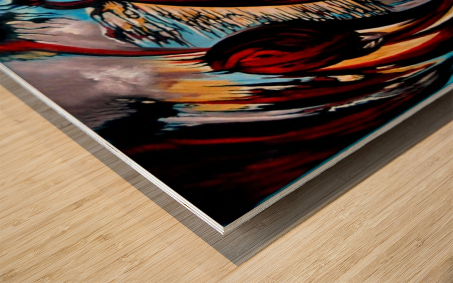 Incidental Landscape with Secret Reality Wood print