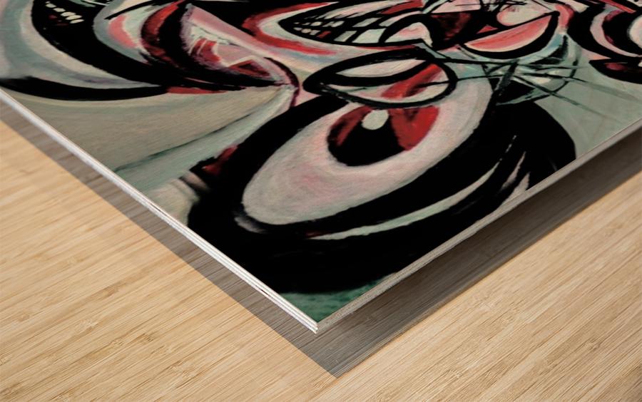 Geometric Abstraction Wood print