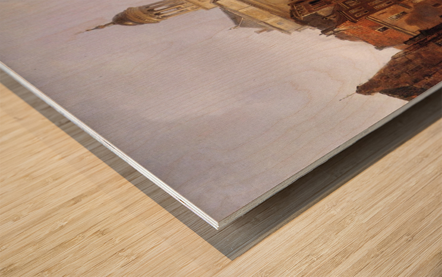 View On Utrecht Sun Wood print