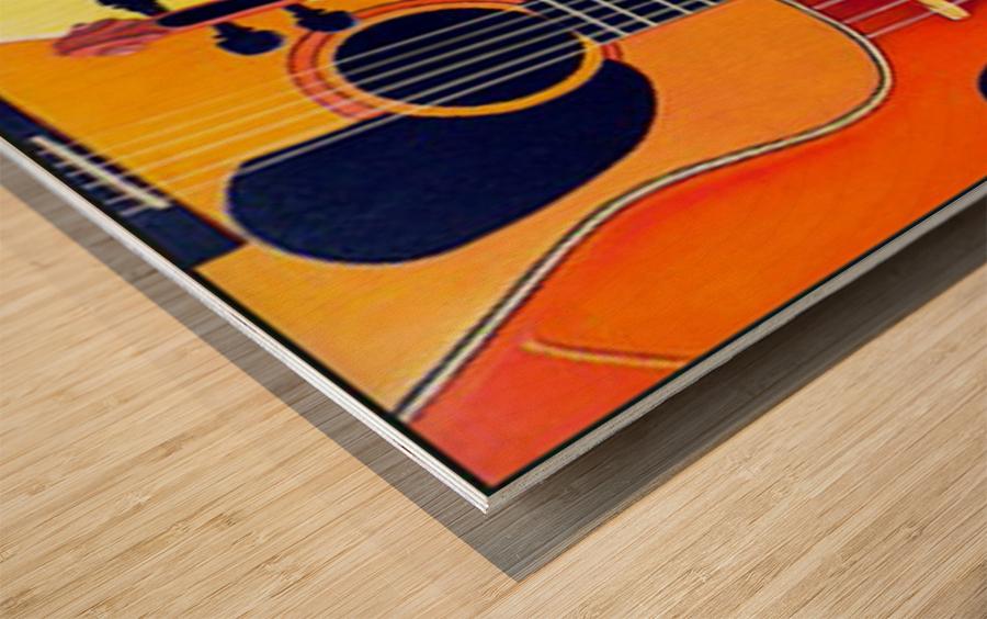 Blue Grass to Brahms Wood print