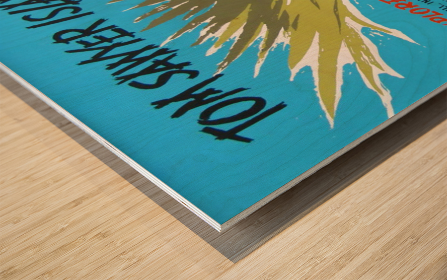 Tom Sawyer Island Poster Wood print