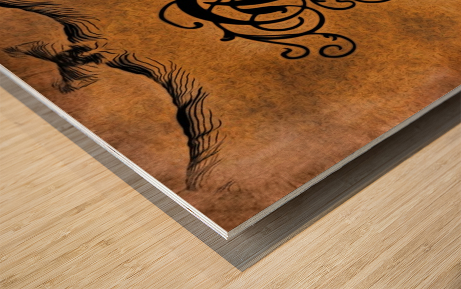 Beautiful Monogram Letter A Wood print