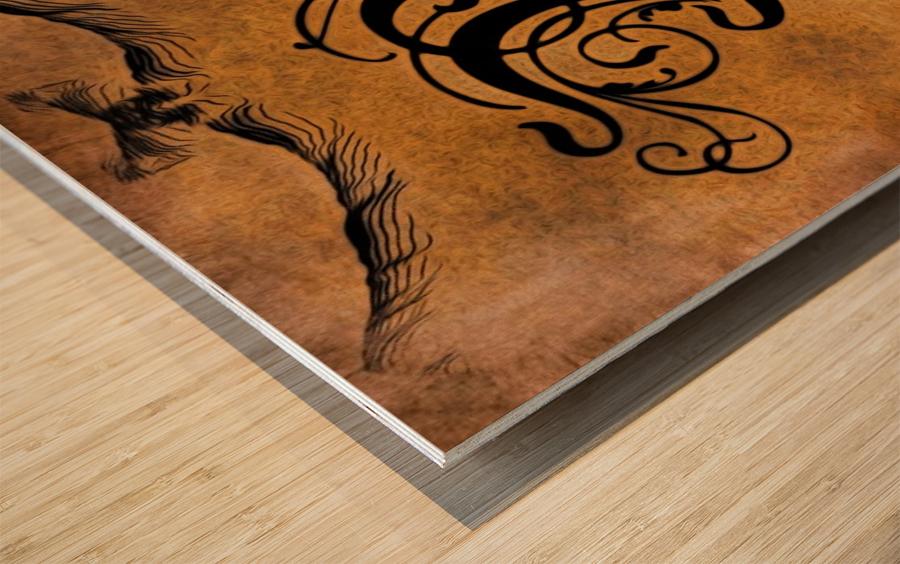 Beautiful Monogram Letter M Wood print