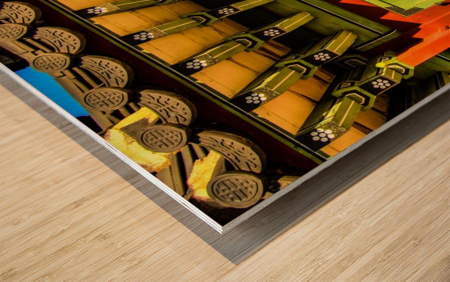 Korean Door Wood print