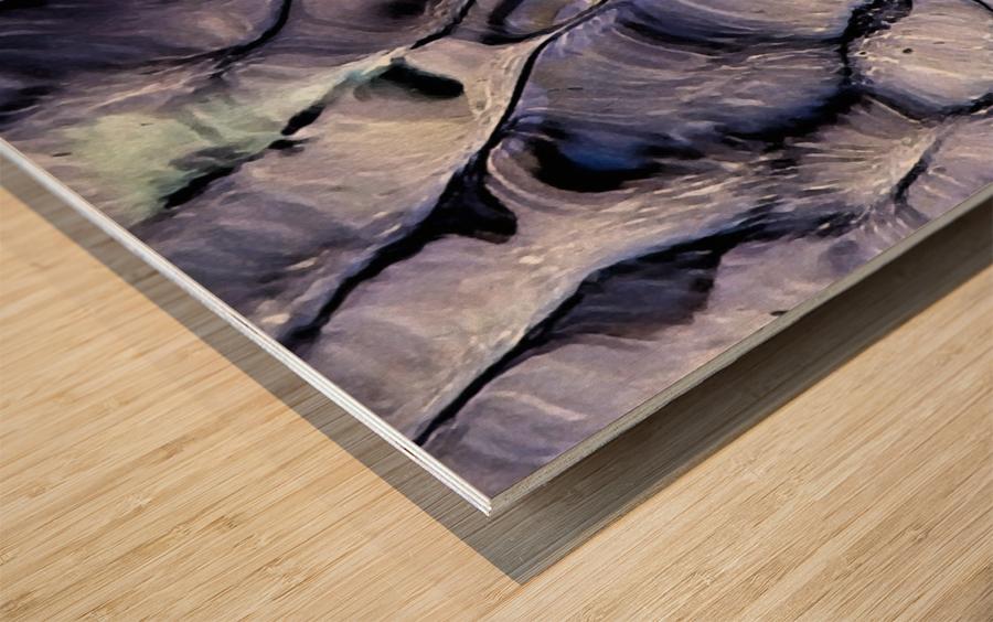 Undulations Wood print