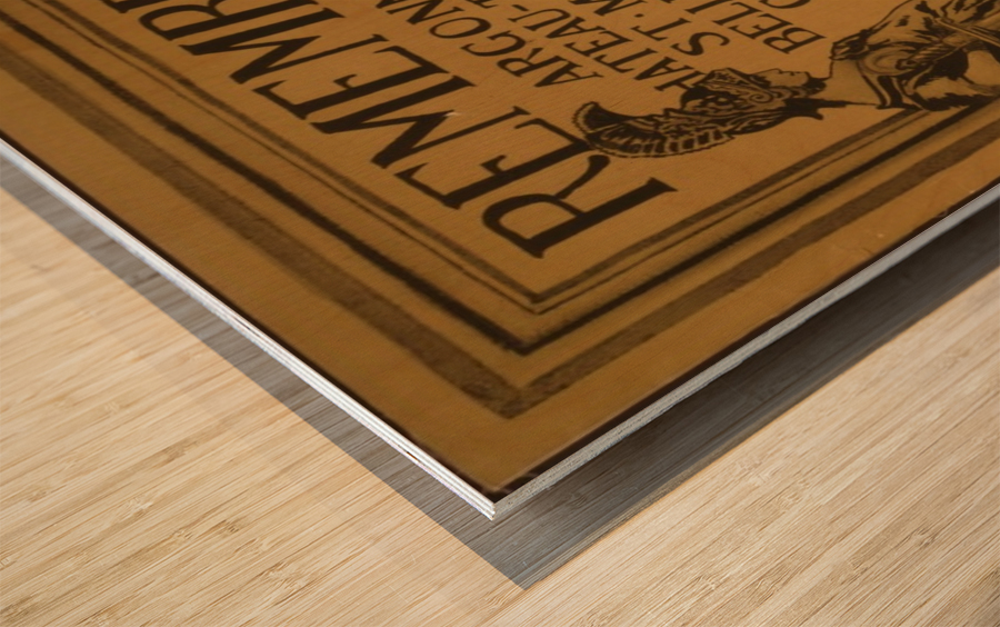 Invest Wood print