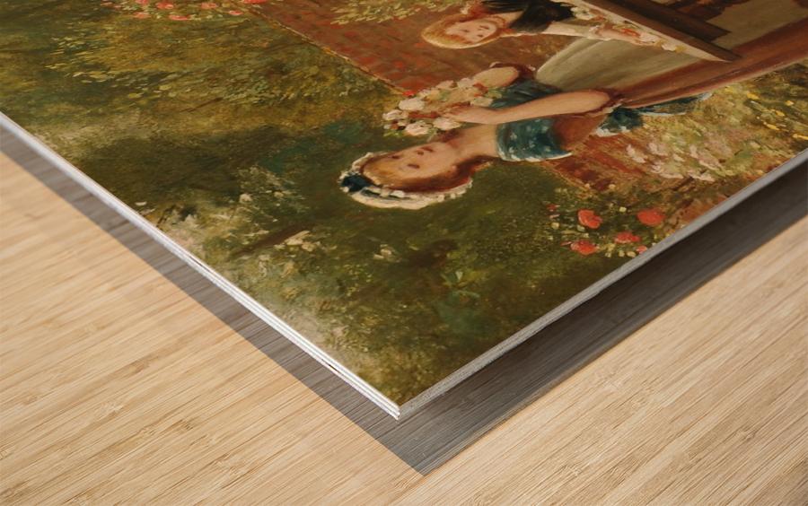 A feast of roses Wood print