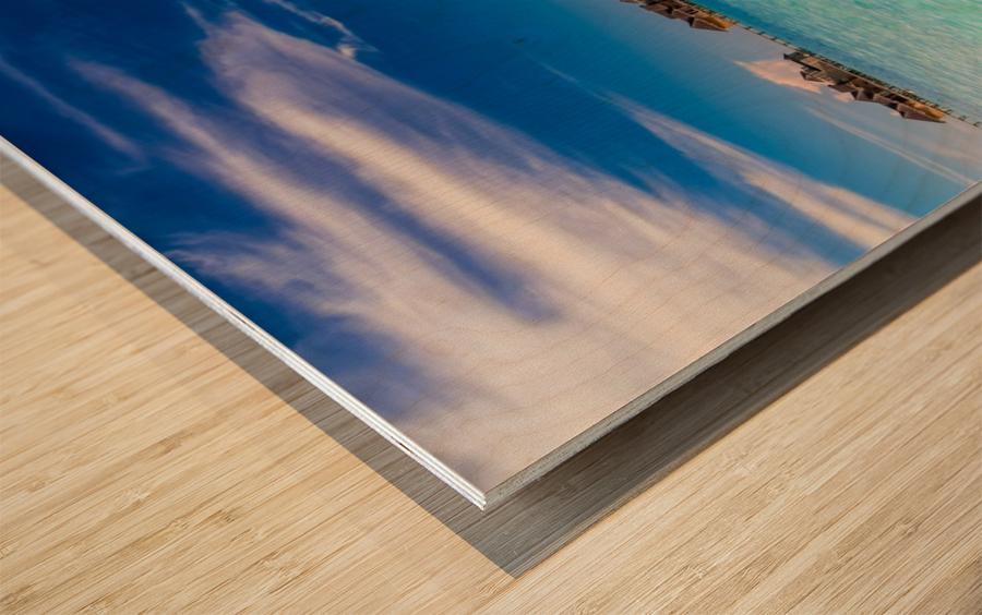 Amazing beach in Maldives, summer travel Wood print