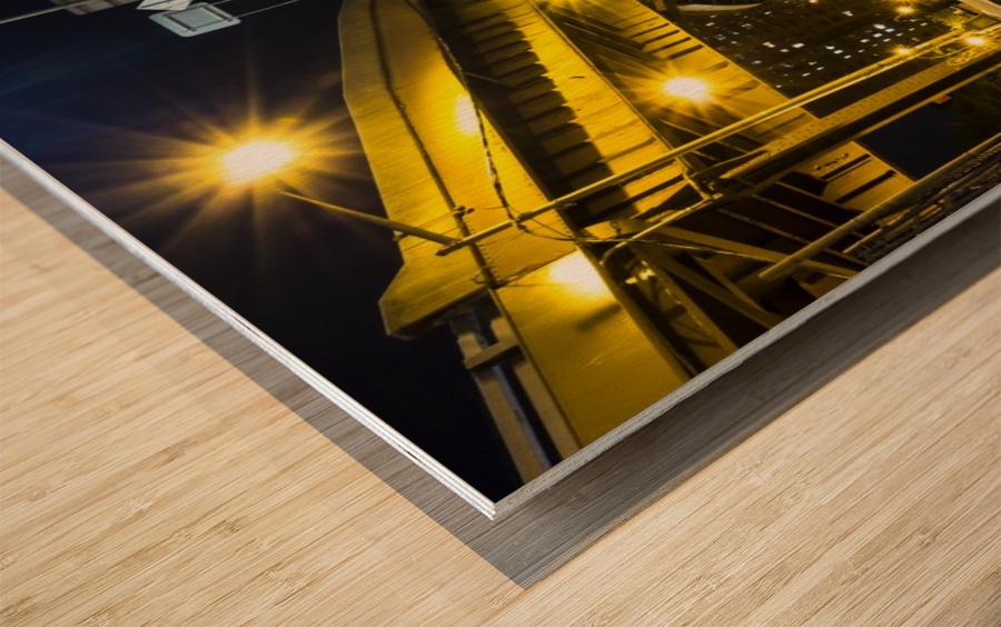 At The Apex Wood print