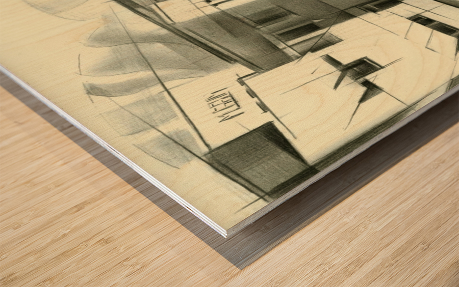 gemeentemuseum - 05-08-16 Wood print