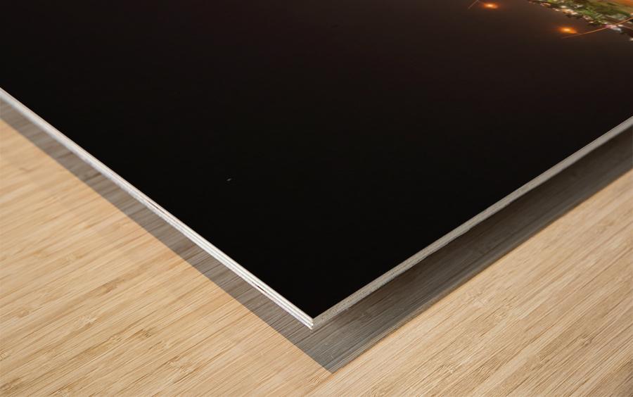 Cinta Costera Long Exposure  Wood print
