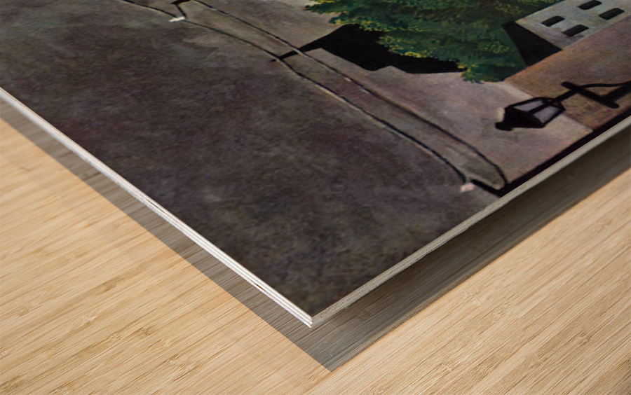 Malakoff by Henri Rousseau Wood print