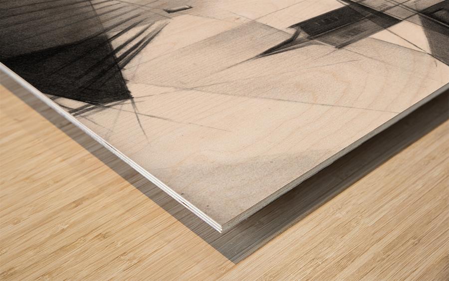 Schiedam - 11-08-16 Wood print